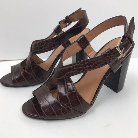 cf1c9d558e8 Nine West Box Heel Sandals. M 5a83b5fbfcdc31db9aa83e59